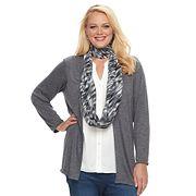Plus Size Apt. 9® 2-Fer Hatchi Knit Top