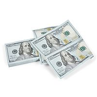 Fred & Friends Filthy Rich $100 Bill Napkins