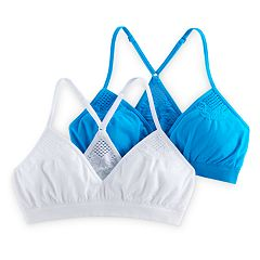 Girls 7-16 SO® 2-pk. Crochet Racerback Seamless Triangle Bralettes