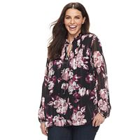 Plus Size Apt. 9® Woven Print Blouse