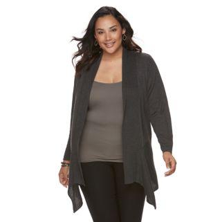 Plus Size Apt. 9® Heathered Cardigan