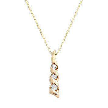 Sirena Collection 14k Gold 1/8-ct. T.W. Diamond Journey Pendant