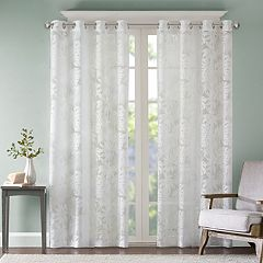 Madison Park 1-Panel Kauna Palm Leaf Window Curtain