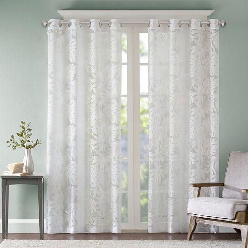Madison Park 1-Panel Kauna Palm Leaf Window Curtain