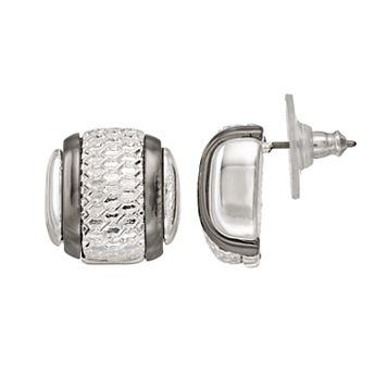 Dana Buchman Two Tone Mesh Stud Earrings