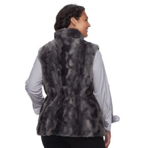 Plus Size Gallery Reversible Faux-Fur Vest