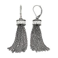 Dana Buchman Two Tone Chain Fringe Drop Earrings