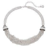 Dana Buchman Two Tone Chain Torsade Necklace