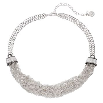 Dana Buchman Two Tone Chain Torsade Necklace