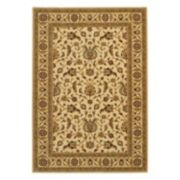 Couristan Royal Brentwood Luxury Framed Floral Wool Rug