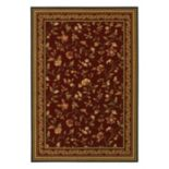 Couristan Royal Luxury Winslow Framed Floral Wool Rug