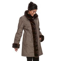 Women's Gallery Faux-Fur Trim Jacket