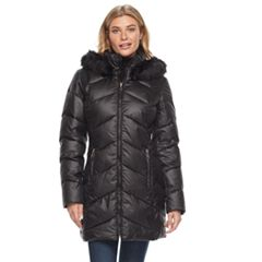 Women's Gallery Hooded Faux-Fur Trim Puffer Jacket