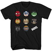 Boys 8-20 Marvel Superheroes Tee