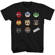 Boys 8-20 Marvel Superheroes Tee