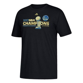 Boys 8-20 adidas Golden State Warriors 2017 NBA Champions Locker Room Tee