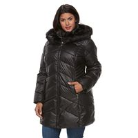 Plus Size Gallery Hooded Faux-Fur Trim Puffer Jacket
