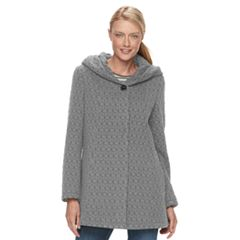 Women's Gallery Hooded Textured Fleece Jacket