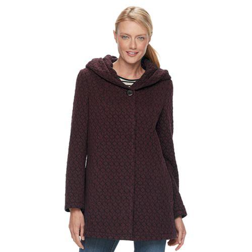 Women's Gallery Hooded Textured Fleece Jacket