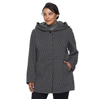 Plus Size Gallery Geometric Fleece Jacket