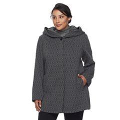 Plus Size Gallery Geometric Fleece Jacket