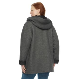 Plus Size Gallery Hooded Fleece Jacket