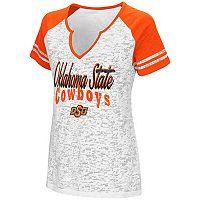 Women's Campus Heritage Oklahoma State Cowboys Notch-Neck Raglan Tee
