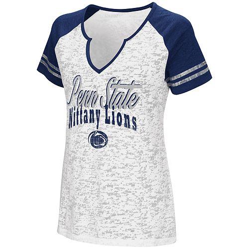 Women's Campus Heritage Penn State Nittany Lions Notch-Neck Raglan Tee
