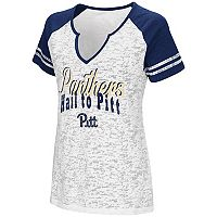 Women's Campus Heritage Pitt Panthers Notch-Neck Raglan Tee