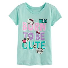 Girls 7-16 Hello Kitty® 'Born to be Cute' Glitter Graphic Tee