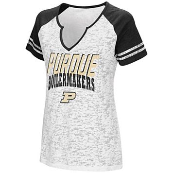 Women's Campus Heritage Purdue Boilermakers Notch-Neck Raglan Tee