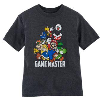 "Boys 4-7 Super Mario Bros ""Game Master"" Graphic Tee"