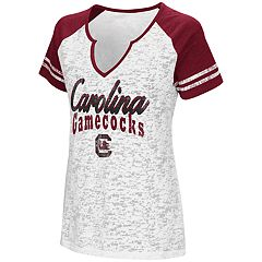 Women's Campus Heritage South Carolina Gamecocks Notch-Neck Raglan Tee