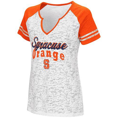 Women's Campus Heritage Syracuse Orange Notch-Neck Raglan Tee