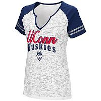 Women's Campus Heritage UConn Huskies Notch-Neck Raglan Tee