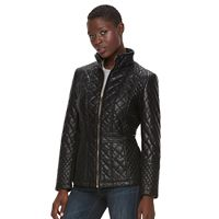 Women's Gallery Quilted Faux-Leather Jacket