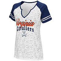 Women's Campus Heritage Virginia Cavaliers Notch-Neck Raglan Tee
