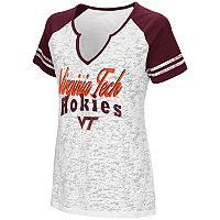 Women's Campus Heritage Virginia Tech Hokies Notch-Neck Raglan Tee