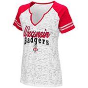 Women's Campus Heritage Wisconsin Badgers Notch-Neck Raglan Tee