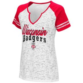 Women's Campus Heritage Wisconsin Badgers Notch-Neck Raglan Tee