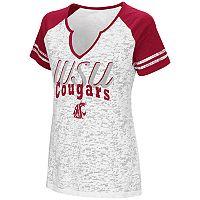 Women's Campus Heritage Washington State Cougars Notch-Neck Raglan Tee