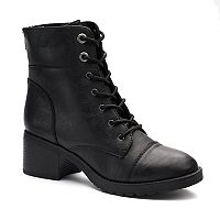 SO® Invite Women's Block Heel Combat Boots