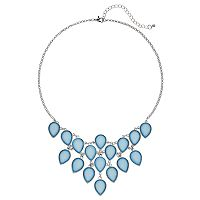 Mudd® Blue Teardrop Statement Necklace