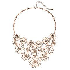 Mudd® Wire Flower Statement Necklace