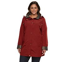Plus Size Gallery Hooded Lined Rain Jacket