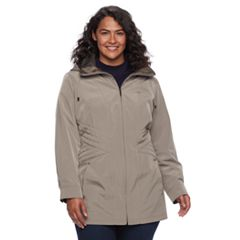 Plus Size Gallery Hooded Rain Jacket