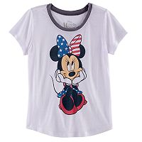 Disney's Minnie Mouse Girls 7-16 Glitter Americana Tee