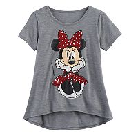 Disney's Minnie Mouse Girls 7-16 Glitter Sketch Graphic Tee