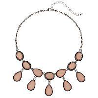 Mudd® Oval & Teardrop Statement Necklace