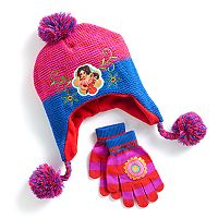 Disney's Elena of Avalor Girls 4-16 Fleece-Lined Knit Hat & Gloves Set